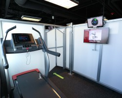 Private workout cube in best gym