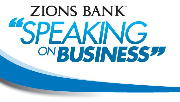 zions bank speaking on business graphic