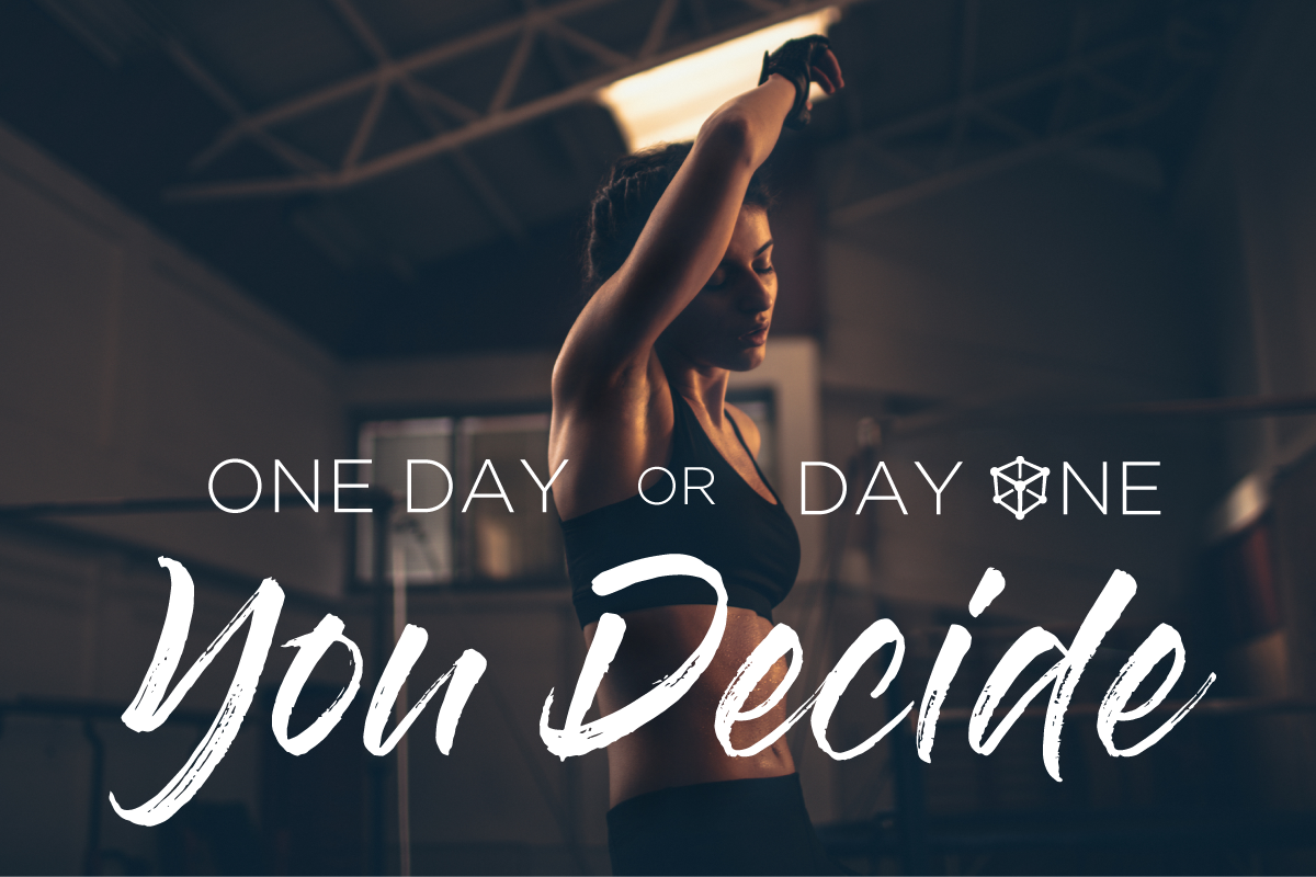 one day or day one fitness motivation from kubex gym in utah