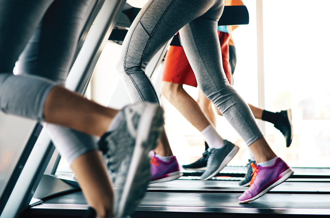 several people running on the treadmill properly